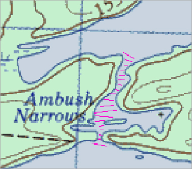 Ambush Narrows Map