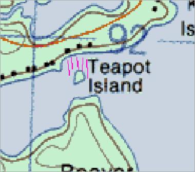Teapot Island Map
